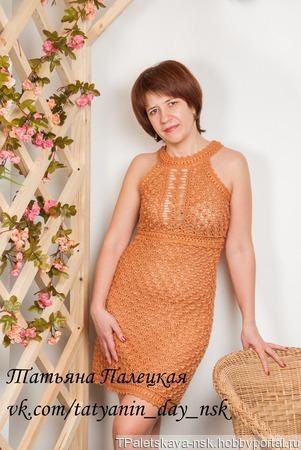 """Платье """"Серебро"""" ручной работы на заказ"""