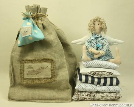 """Интерьерная кукла """"Голубой Ангел"""" ручной работы на заказ"""