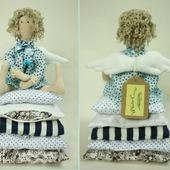 """Интерьерная кукла """"Голубой Ангел"""""""