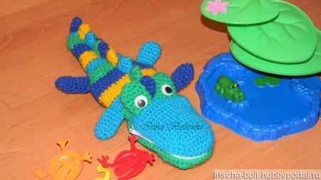 """Детский пенал """"Крокодильчик"""" ручной работы на заказ"""