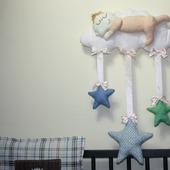 """Подвесная интерьерная игрушка """"Младенец на облаке"""""""