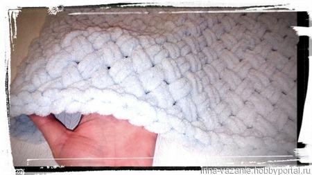 Плед плюшевый вязаный детский ручной работы на заказ