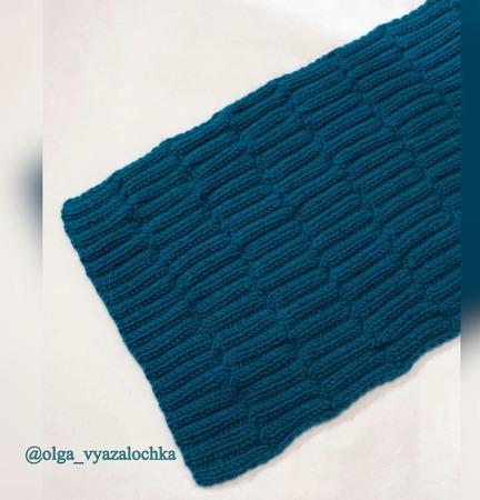 """Вязаный шарф """"Элегантность"""" ручной работы на заказ"""