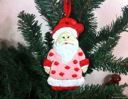 Пряник-подвеска Дед Мороз ручной работы на заказ