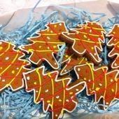 Пряники елочки новогодние небольшие