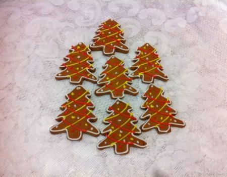 Пряники елочки новогодние небольшие ручной работы на заказ