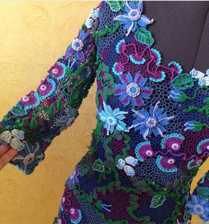 """Платье """"Capriccio blu"""" ручной работы на заказ"""