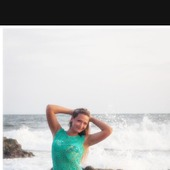 Пляжная туника с открытой спиной