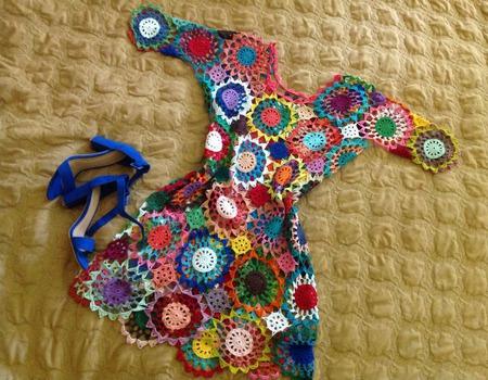 """Платье """"Многоцветье"""" ручной работы на заказ"""