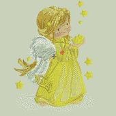 """Дизайн для вышивки """"Ангел в желтом"""""""
