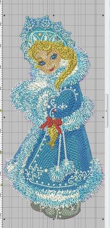 """Дизайн для вышивки """"Снегурочка"""" ручной работы на заказ"""