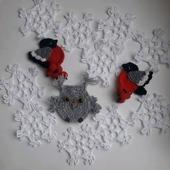 Снежинка вязаная