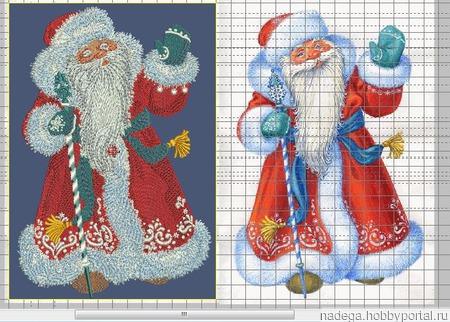 """Дизайн для вышивки """"Дед мороз"""" ручной работы на заказ"""