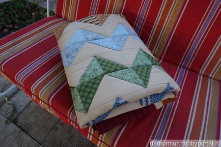 """Лоскутное одеяло """"Зигзаг удачи"""" ручной работы на заказ"""