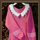 Платье вязаное для девочки 5 лет