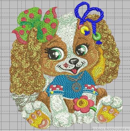 """Дизайн для вязания """"Собачка кудряшка"""" ручной работы на заказ"""