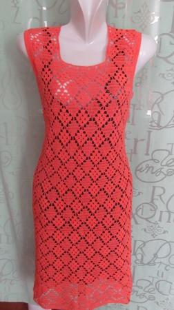 """Платье """"Оранжевый закат"""" ручной работы на заказ"""