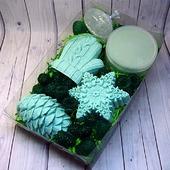 Новогодний набор: мыло, твердый дезодорант и сахарный скраб
