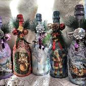 Бутылки декорированые
