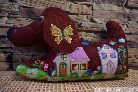 Декоративные подушка-игрушка ручной работы на заказ