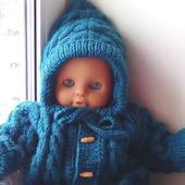 Вязаный комбинезон с капюшоном для мальчика