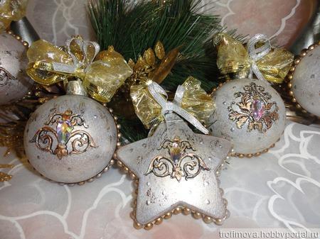 Новогодние шары ручной работы на заказ