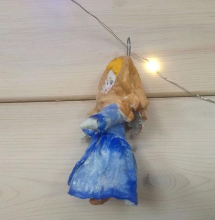 Елочные игрушки из ваты в стиле Ретро по мотивам сказки 12 месяцев ручной работы на заказ
