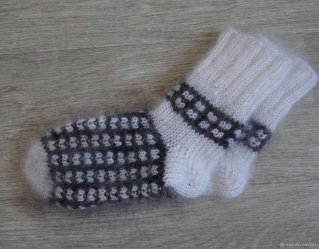 Пуховые носки ручной работы на заказ
