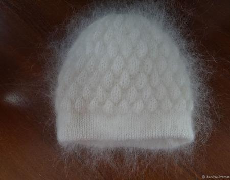 Шапка вязанная двойная теплая ручной работы на заказ