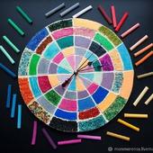 """Часы настенные """"Цветное настроение"""""""