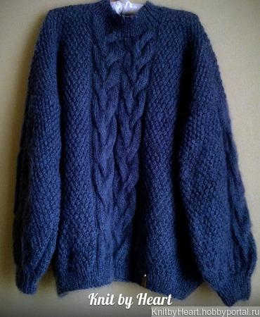 Стильный свитер оверсайз ручной вязки в Москве ручной работы на заказ