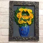"""Картина """"Розы в вазе"""""""