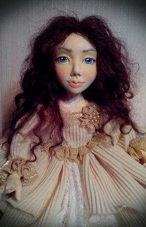 Авторская коллекционная кукла Берта ручной работы на заказ