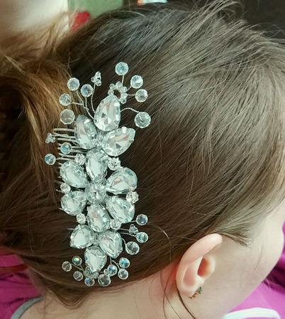 """Гребень для волос из кристаллов """"Сияние"""" ручной работы на заказ"""