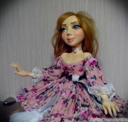 Авторская коллекционная кукла Августа ручной работы на заказ