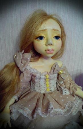 Авторская коллекционная  куколка Юленька ручной работы на заказ