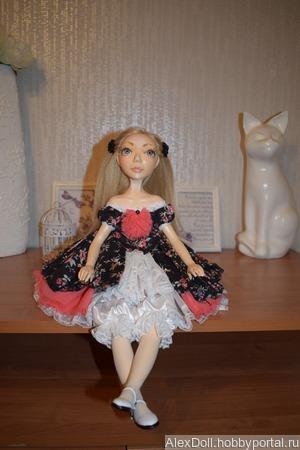 Коллекционная авторская кукла Сильвия ручной работы на заказ