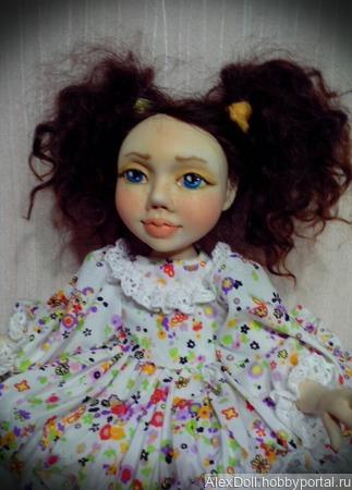 Авторская коллекционная кукла Ниночка ручной работы на заказ