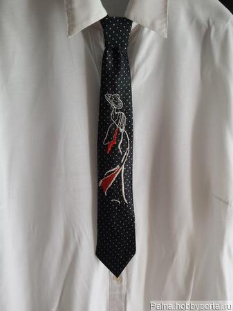 Женский галстук ручной работы на заказ