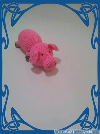 Свинка-лежебока Символ 2019 года ручной работы на заказ