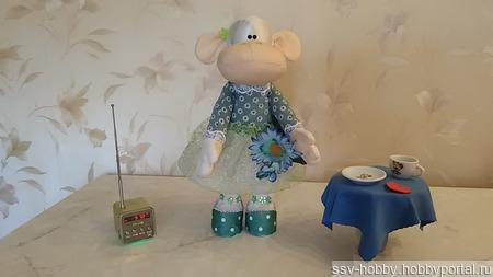 Кукла-обезьянка ручной работы на заказ