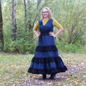 Платье-бохо полушерстяное.