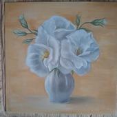 "Картина ""Белые цветы"""
