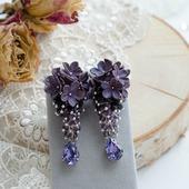 """Серьги """"Фиолетовые грозди"""""""