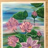 """Картина """"Цветы лотоса"""""""