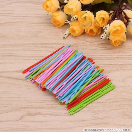 Набор пластиковых игл для сшивания трикотажных изделий ручной работы на заказ