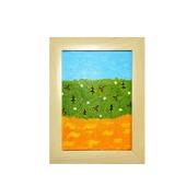 """Картина-перевертыш """"Оранжевая река - оранжевое небо"""""""