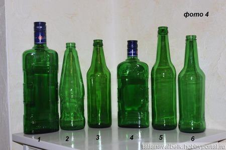Стеклянная бутылка ваза для декорирования ручной работы на заказ