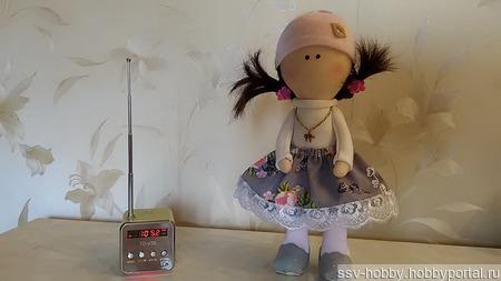Текстильная куколка 25 см ручной работы на заказ