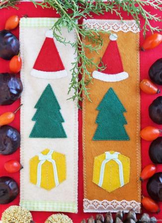Новогодние закладки из фетра для учебников, блокнотов. Новый год 2019 ручной работы на заказ